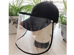 Baseball Cap Protective Face Mask Shield Cover Anti Saliva Anti Spitting