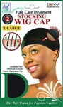 #22304 2CAPS XL ANTIBACTERIAL STOCKING WIG CAP / BLACK (DZ)