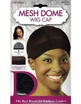 DONNA MESH DOME WIG CAP BLACK #22521 (12PC)