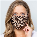 Leopard Print Face Mask Made in USA