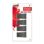 ANNIE BOB PINS 2″ 60 CT BLACK #3108 (12 Pack)