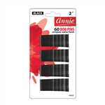 ANNIE BOB PINS 2″ 60 CT MATTE BLACK #3303 (12 Pack)