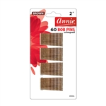 ANNIE BOB PINS 2″ 60 CT BROWN #3304 (12 Pack)