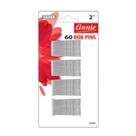 ANNIE BOB PINS 2″ 60 CT SILVER #3308 (12 Pack)