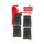 ANNIE BOB PINS 2″ 80 CT BLACK #3337 (12 Pack)