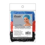 ANNIE PROCESSING CAP 10 PC ASSORTED COLOR XL #3553 (12 Pack)