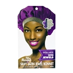 ANNIE MS REMI SILKY SATIN JEWEL BONNET ASSORTED COLOR EXTRA LARGE (12 Pack)