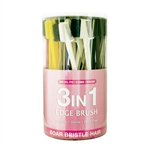 ANA BEAUTY 3 IN 1 EDGE BRUSH 60 CT/JAR (METAL PIK+COMB+BRUSH) #ABR0254