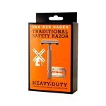 VEN DER HAGEN TRADITIONAL SAFETY RAZOR (5 PANEL BOX) (3 Pack)
