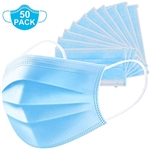50 PCS Disposable Face Mask Surgical Medical Dental 3-Ply Ear loop Mouth Cover