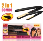 "Annie Hot & Hotter flat iron 1"" & 1/2"" #5873 (EA)"
