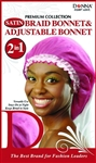 Donna 037 Premium Collection Satin Braid Bonnet & Adjustable Bonnet #11097 ASST. (12 Pack)