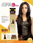 "9 Pcs 18"" LUV Double Weft Clip In Real Remy Human Hair Extension (COLOR)"