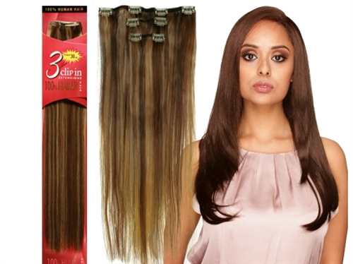 Eve 3pc clip in extensions 18 100 human hair pmusecretfo Image collections