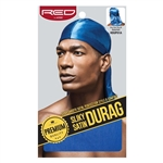 SILKY SATIN DURAG, RED BY KISS (12PC)