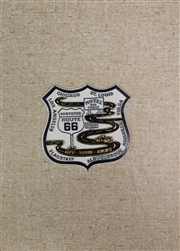 Gold Route 66 Shield Magnet