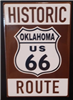 Rt 66 Brown Historic Shield Magnet (All 8 States)