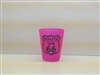Hot pink shot glass