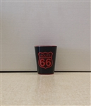 Black and Red Rt 66 Shot Glass