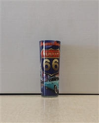 Blue Rt 66 Double Shot Glass