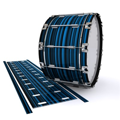 Dynasty 1st Generation Bass Drum Slip - Blue Horizon Stripes (Blue)