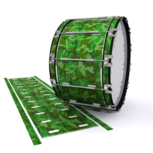 Dynasty 1st Generation Bass Drum Slip - Forest Traditional Camouflage (Green)