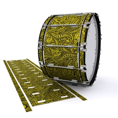 Dynasty 1st Generation Bass Drum Slip - Gold Paisley (Themed)