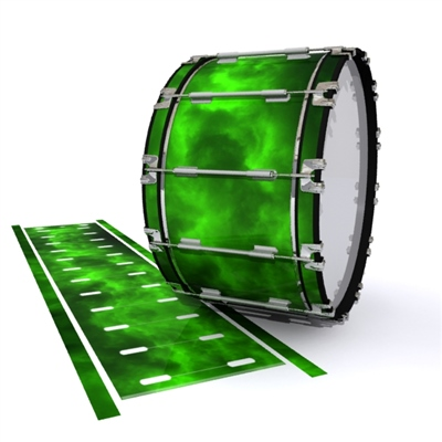 Dynasty 1st Generation Bass Drum Slip - Green Smokey Clouds (Themed)