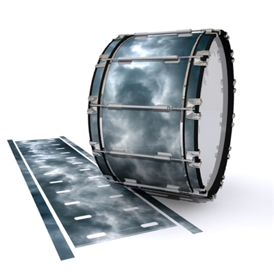 Dynasty 1st Generation Bass Drum Slip - Grey Smokey Clouds (Themed)