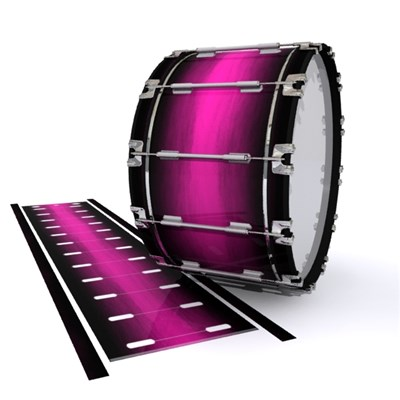 Dynasty 1st Generation Bass Drum Slip - Hot Pink Stain Fade (Pink)