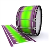 Dynasty 1st Generation Bass Drum Slip - Joker Drop Fade (Purple) (Green)