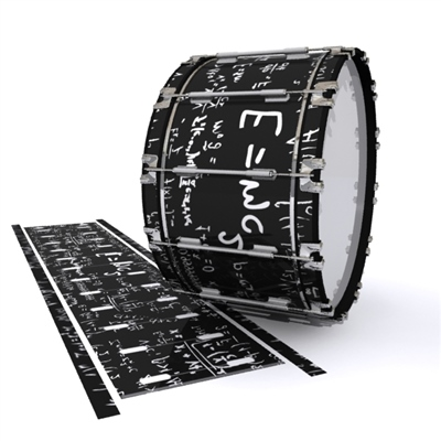 Dynasty 1st Generation Bass Drum Slip - Mathmatical Equations on Black (Themed)