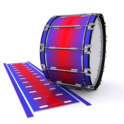 Dynasty 1st Generation Bass Drum Slip - Orion Fade (Blue) (Red)