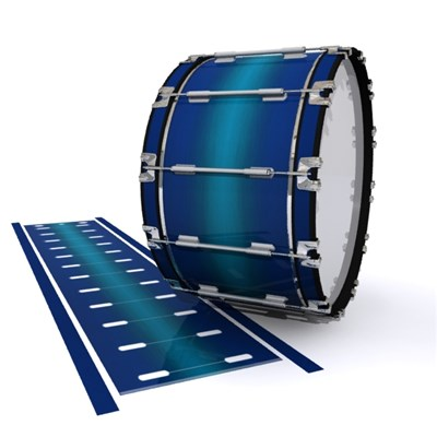 Dynasty 1st Generation Bass Drum Slip - Pacific Fade (Blue) (Aqua)