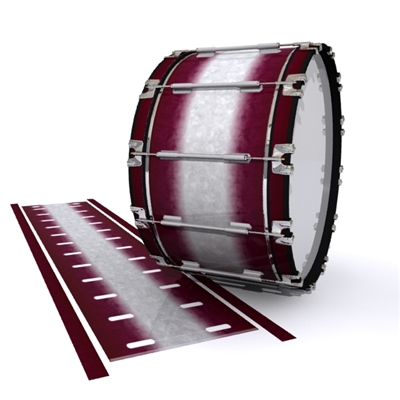 Dynasty 1st Generation Bass Drum Slip - Pebble Maroon (Red)