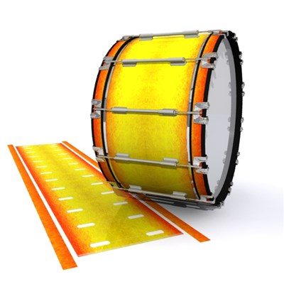 Dynasty 1st Generation Bass Drum Slip - Phoenix Fire (Yellow) (Orange)