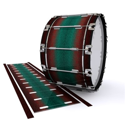 Dynasty 1st Generation Bass Drum Slip - Red River Fade (Red) (Aqua)