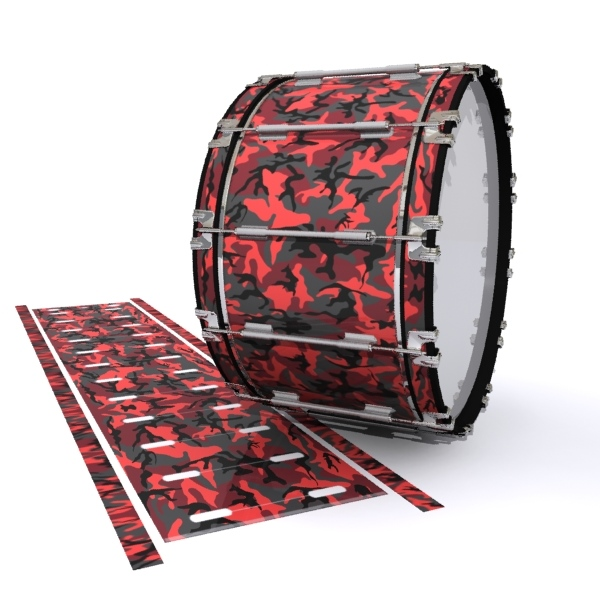 Dynasty 1st Generation Bass Drum Slip - Red Slate Traditional Camouflage (Red)