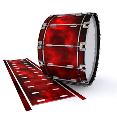 Dynasty 1st Generation Bass Drum Slip - Red Smokey Clouds (Themed)