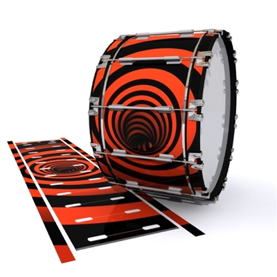 Dynasty 1st Generation Bass Drum Slip - Red Vortex Illusion (Themed)