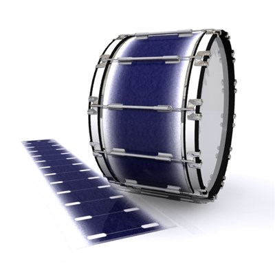 Dynasty 1st Generation Bass Drum Slip - Riverside Slate (Purple)