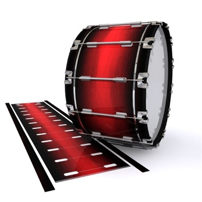 Dynasty 1st Generation Bass Drum Slip - Rose Stain Fade (Red)