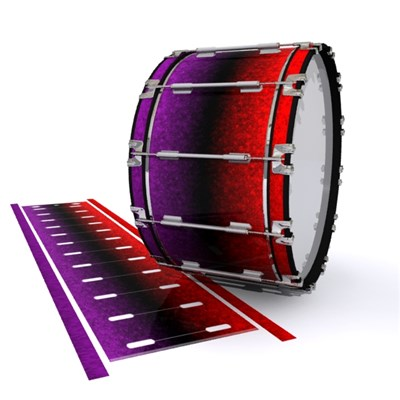 Dynasty 1st Generation Bass Drum Slip - Rosso Galaxy Fade (Red) (Purple)