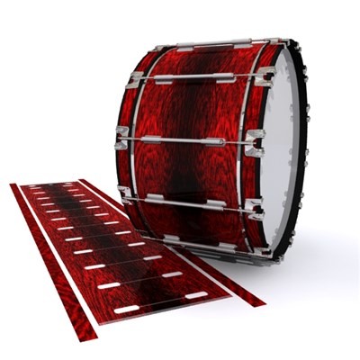 Dynasty 1st Generation Bass Drum Slip - Rosy Red Rosewood (Red)