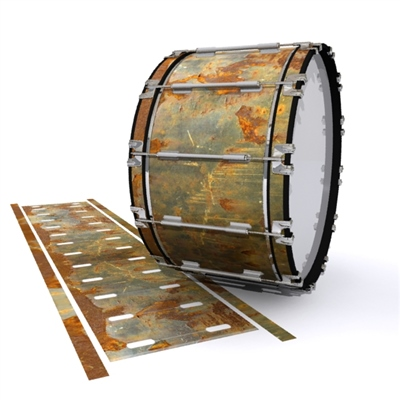 Dynasty 1st Generation Bass Drum Slip - Rusted Metal (Themed)