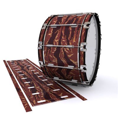 Dynasty 1st Generation Bass Drum Slip - Sabertooth Tiger Camouflage (Red)