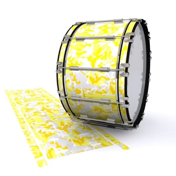 Dynasty 1st Generation Bass Drum Slip - Solar Blizzard Traditional Camouflage (Yellow)