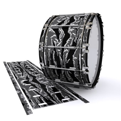 Dynasty 1st Generation Bass Drum Slip - Stealth Tiger Camouflage (Neutral)