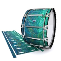 Dynasty Custom Elite Bass Drum Slip - Aquamarine Blue Pearl (Aqua)