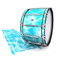 Dynasty Custom Elite Bass Drum Slip - Aquatic Refraction (Themed)